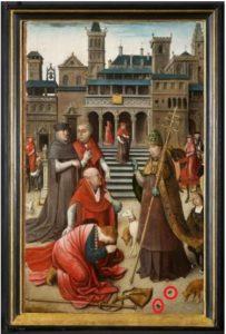 Sint Rochus op bezoek bij de paus...met de twee vliegen
